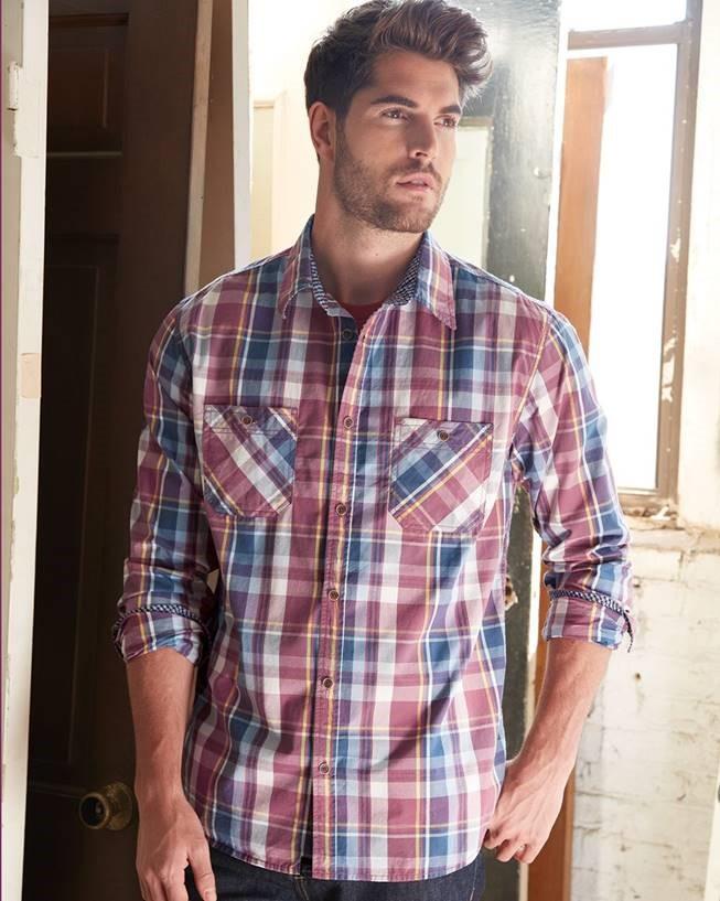 Osb men 39 s weatherproof vintage plaid long sleeve shirt for Weatherproof vintage men s lightweight flannel shirt